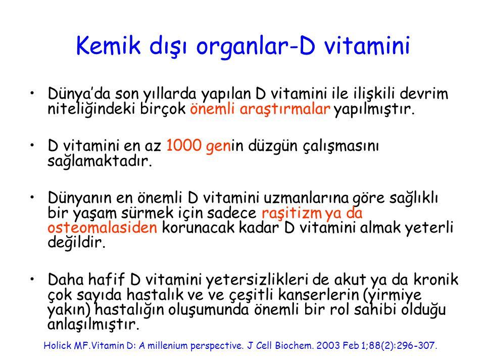 Günlük D vitamini dozu Normal D vitamini düzeylerinin 35-40 ng/mL'nin üzerinde olması lazım.