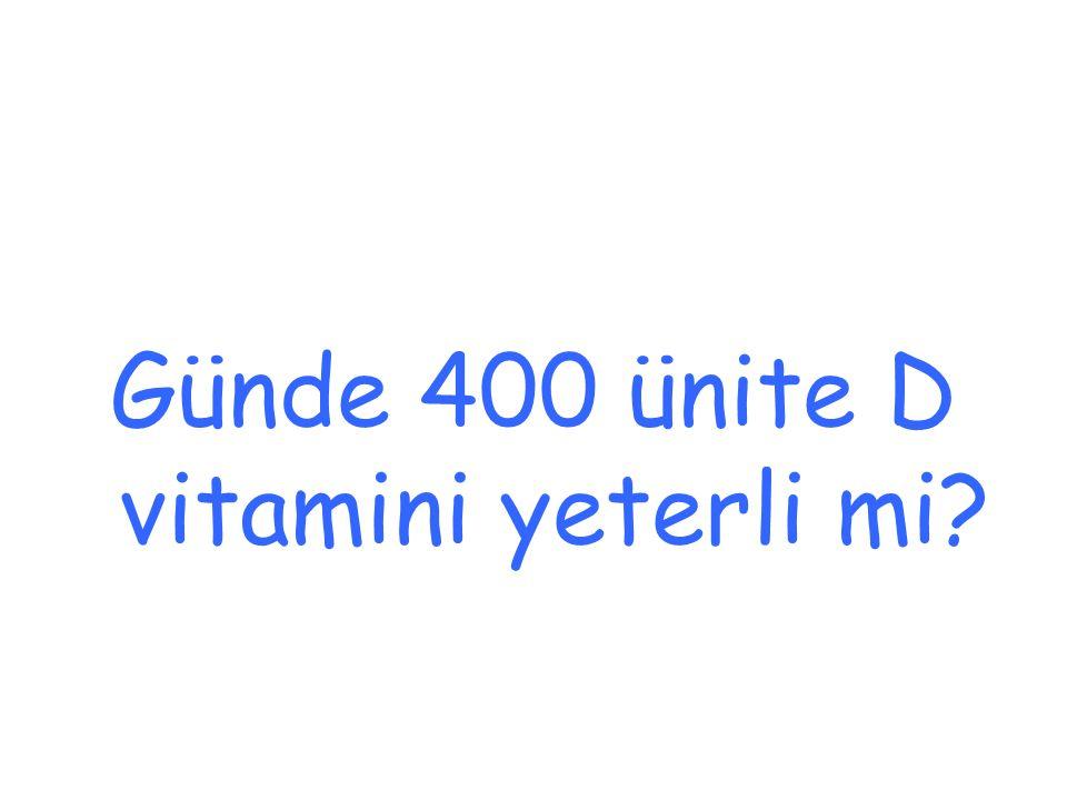 Günde 400 ünite D vitamini yeterli mi?