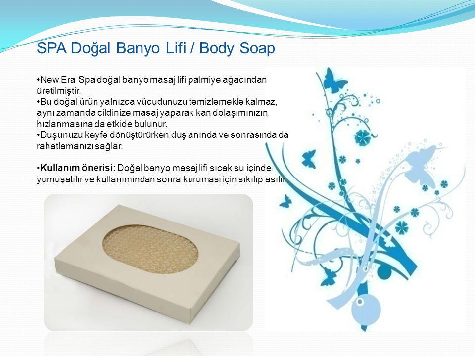 SPA Doğal Banyo Lifi / Body Soap New Era Spa doğal banyo masaj lifi palmiye ağacından üretilmiştir. Bu doğal ürün yalnızca vücudunuzu temizlemekle kal