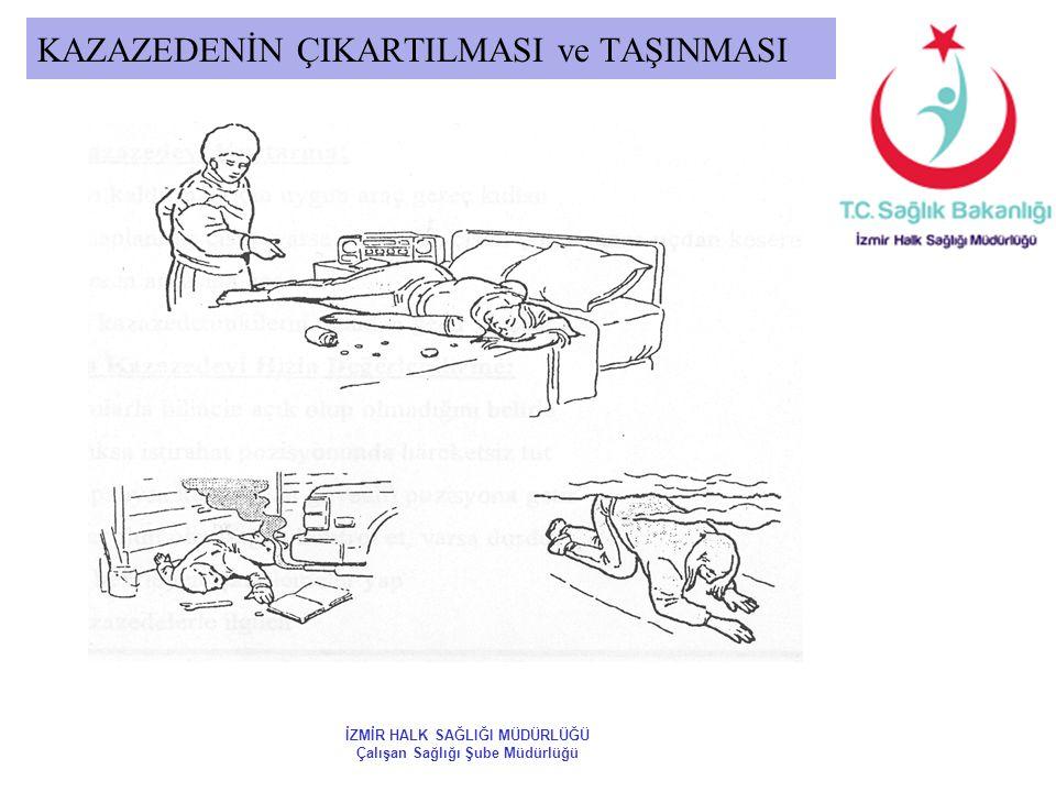 KAZAZEDENİN ÇIKARTILMASI ve TAŞINMASI İZMİR HALK SAĞLIĞI MÜDÜRLÜĞÜ Çalışan Sağlığı Şube Müdürlüğü