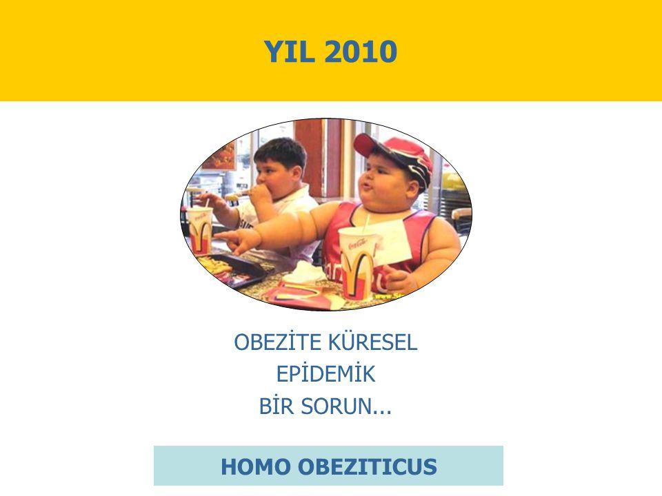YIL 2010 OBEZİTE KÜRESEL EPİDEMİK BİR SORUN... HOMO OBEZITICUS