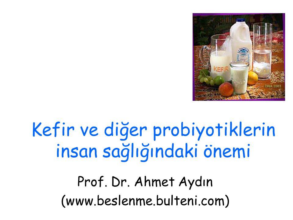 Kefir ve diğer probiyotiklerin insan sağlığındaki önemi Prof. Dr. Ahmet Aydın (www.beslenme.bulteni.com)