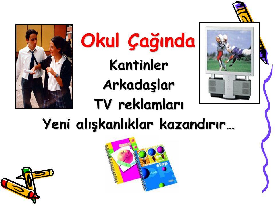 Okul Çağında KantinlerArkadaşlar TV reklamları Yeni alışkanlıklar kazandırır…