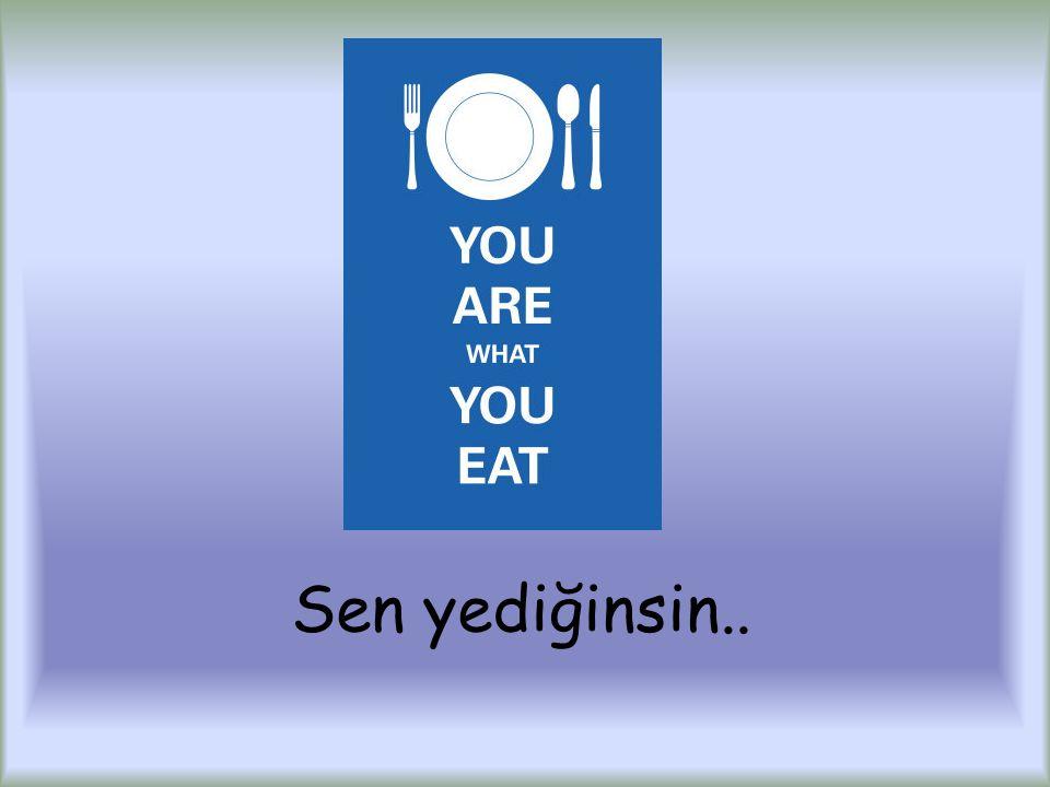 Sen yediğinsin..