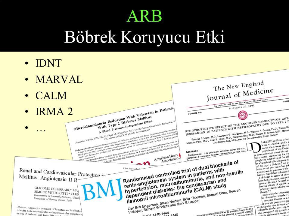ARB Böbrek Koruyucu Etki IDNT MARVAL CALM IRMA 2 …