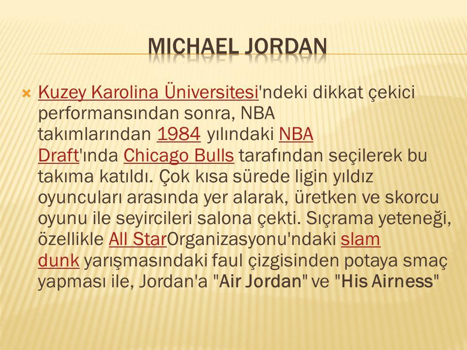  Kuzey Karolina Üniversitesi'ndeki dikkat çekici performansından sonra, NBA takımlarından 1984 yılındaki NBA Draft'ında Chicago Bulls tarafından seçi