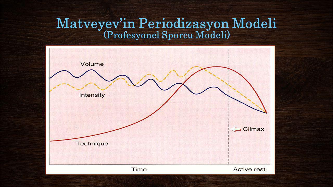 Matveyev'in Periodizasyon Modeli (Profesyonel Sporcu Modeli)