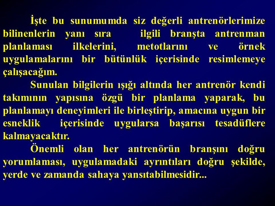 ANTRENMAN NEDİR .(Yaşar Sevim).