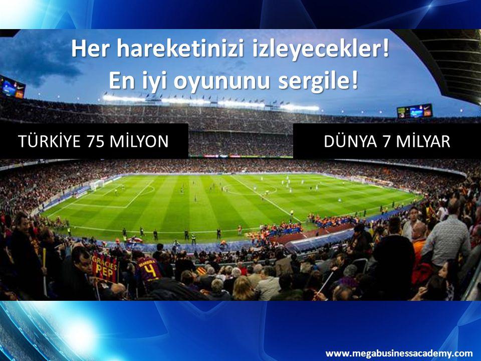 www.megabusinessacademy.com TÜRKİYE 75 MİLYONDÜNYA 7 MİLYAR Her hareketinizi izleyecekler.
