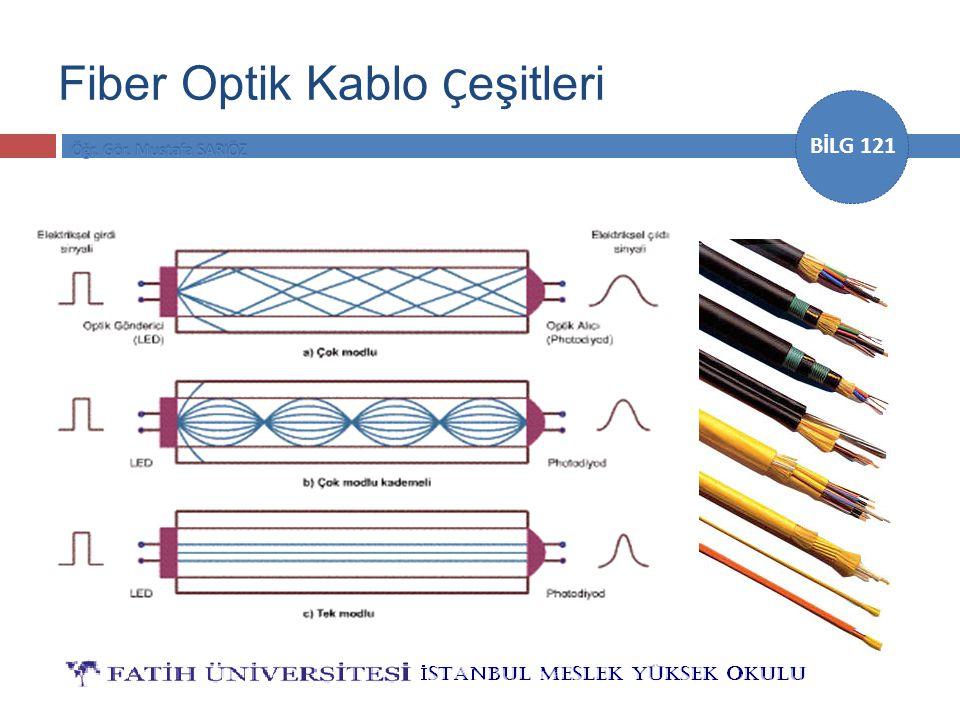 BİLG 121 Fiber Optik Kablo Ç eşitleri