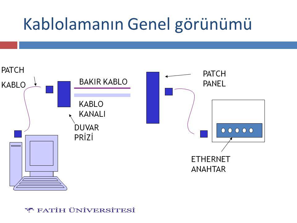 Kablolamanın Genel görünümü PATCH KABLO BAKIR KABLO KABLO KANALI PATCH PANEL DUVAR PRİZİ ETHERNET ANAHTAR
