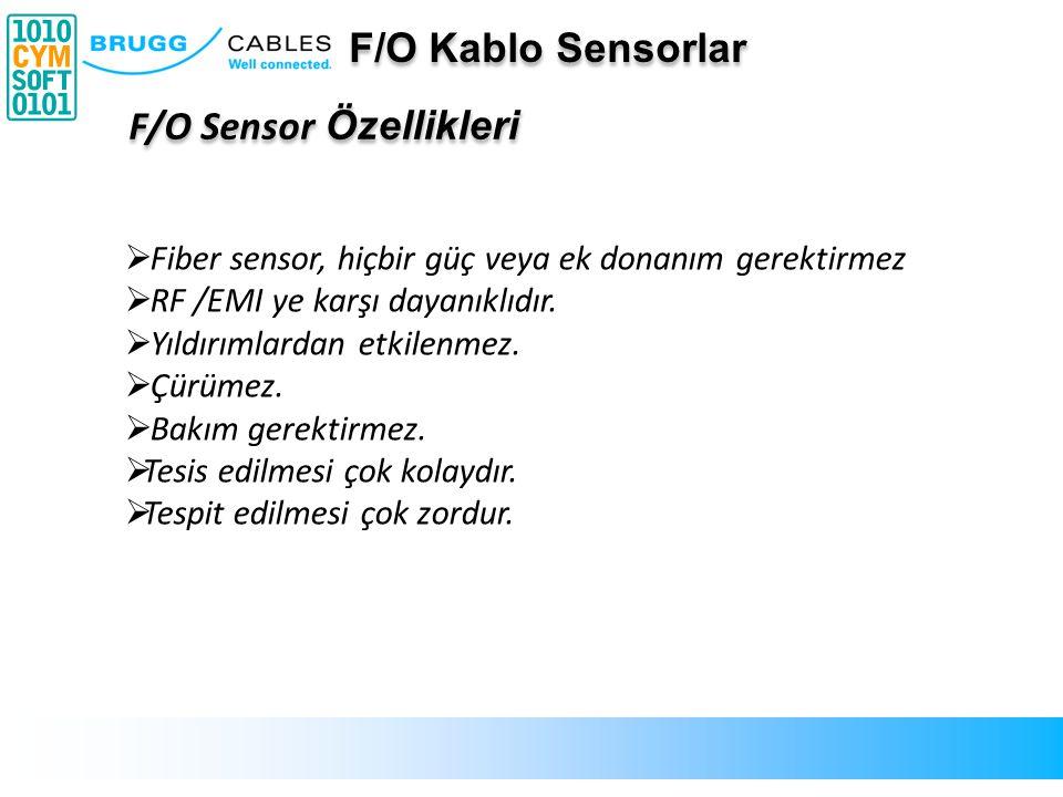  Fiber sensor, hiçbir güç veya ek donanım gerektirmez  RF /EMI ye karşı dayanıklıdır.