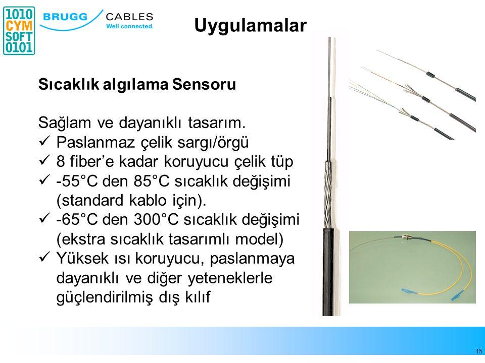 15 Sıcaklık algılama Sensoru Sağlam ve dayanıklı tasarım.