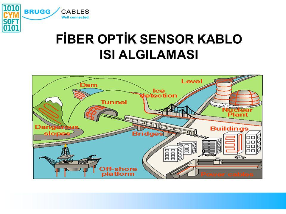 Işık Girişi Geri yansıyan ışık Fiber optik kablo Gönderilen ışık Yansıyan ışık analizi Algılama Yöntemi Fiber optik kabloların sensor olarak kullanımı F/O Kablo Sensorlar