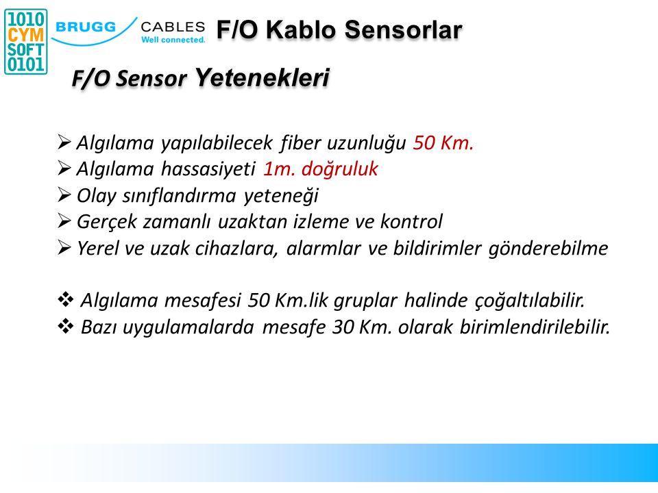 F/O Sensor Yetenekleri  Algılama yapılabilecek fiber uzunluğu 50 Km.