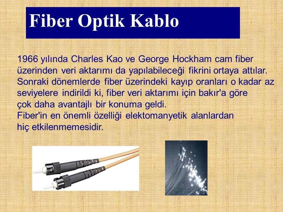 Fiber Optik Kablo 1966 yılında Charles Kao ve George Hockham cam fiber üzerinden veri aktarımı da yapılabileceği fikrini ortaya attılar. Sonraki dönem