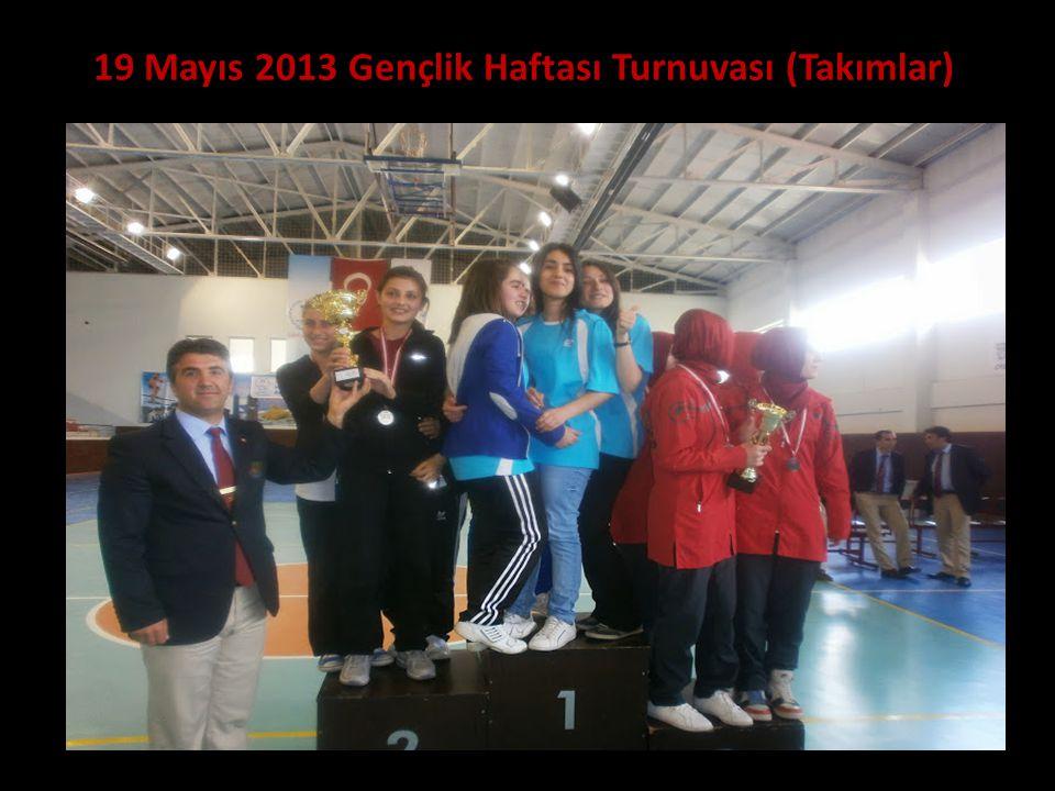 19 Mayıs 2013 Gençlik Haftası Turnuvası (Takımlar)