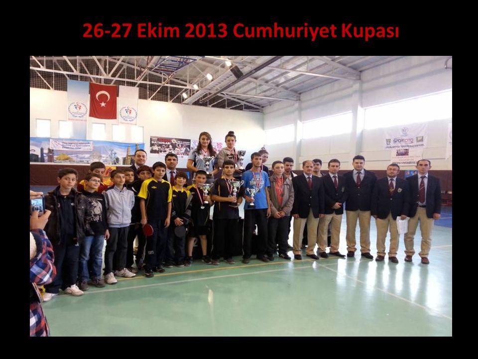 26-27 Ekim 2013 Cumhuriyet Kupası