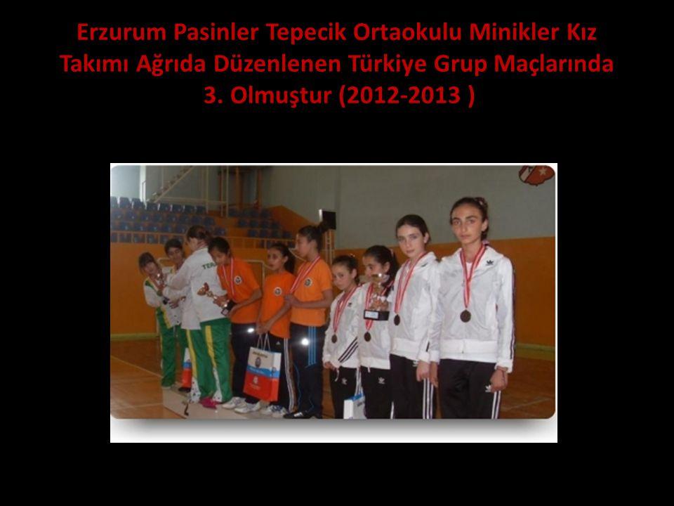 Erzurum Pasinler Tepecik Ortaokulu Minikler Kız Takımı Ağrıda Düzenlenen Türkiye Grup Maçlarında 3. Olmuştur (2012-2013 )