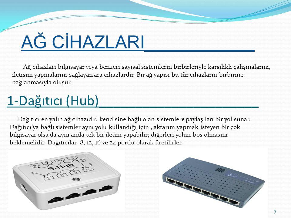 Düz kablo: (straight – through) _________________________ 26 Düz kablo en yaygın kablo türüdür.