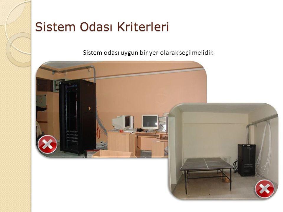 Sistem odası uygun bir yer olarak seçilmelidir.