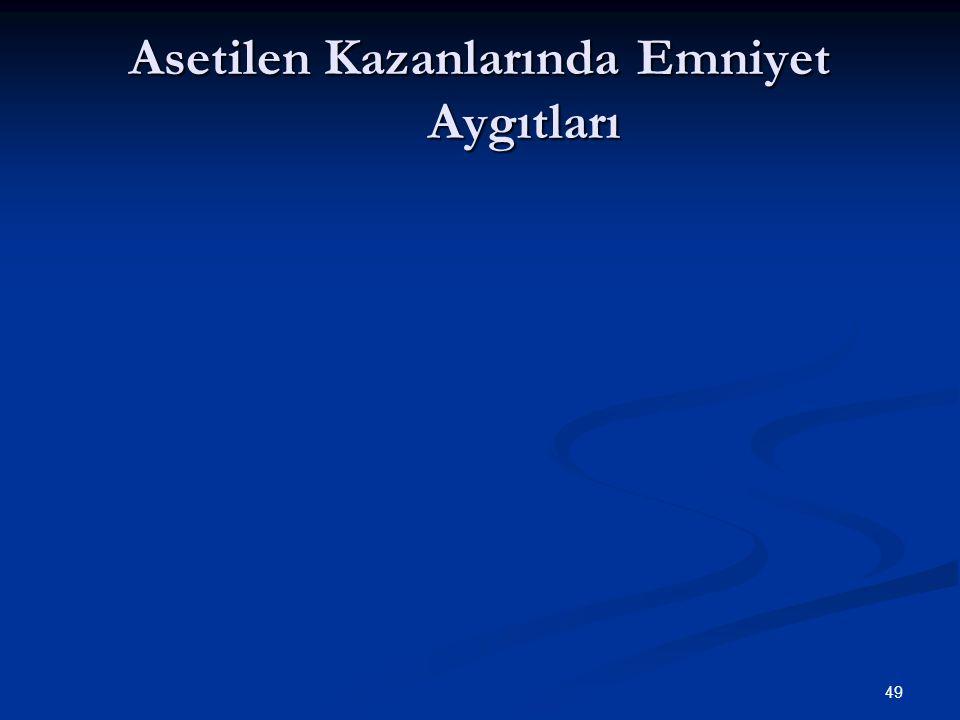 49 Asetilen Kazanlarında Emniyet Aygıtları