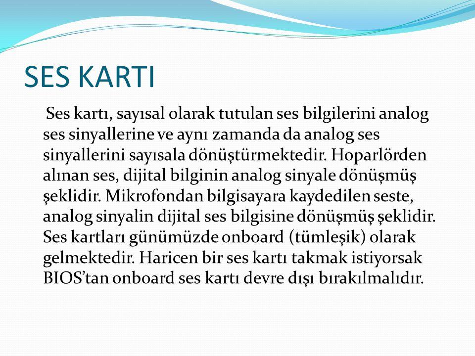 SES KARTININ YAPISI Ses kartının temel bileşenleri şunlardır: DSP (digital signal processor): Kartın ses üreticisidir.