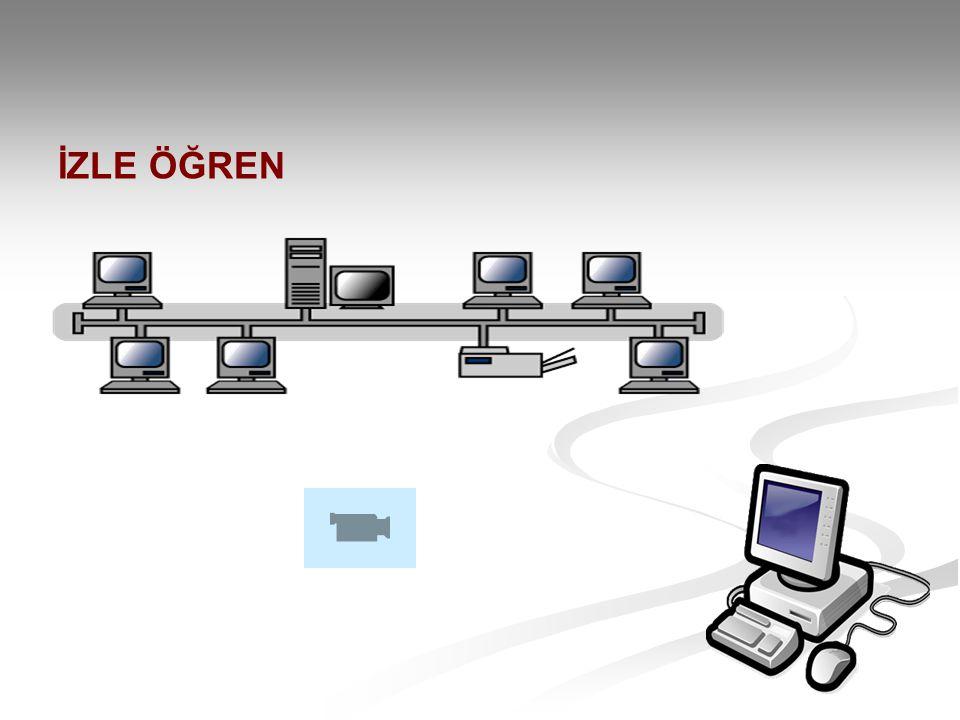 HALKA TOPOLOJİSİ Halka şeklindeki bağlantılarla yapılan topolojidir.