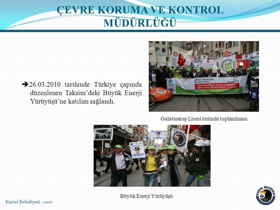  26.03.2010 tarihinde Türkiye çapında düzenlenen Taksim'deki Büyük Enerji Yürüyüşü'ne katılım sağlandı.