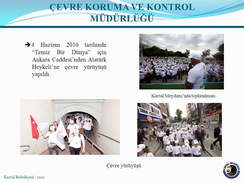 Kartal Belediyesi - 2010  4 Haziran 2010 tarihinde Temiz Bir Dünya için Ankara Caddesi'nden Atatürk Heykeli'ne çevre yürüyüşü yapıldı.