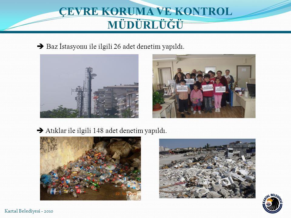 Kartal Belediyesi - 2010  Baz İstasyonu ile ilgili 26 adet denetim yapıldı.