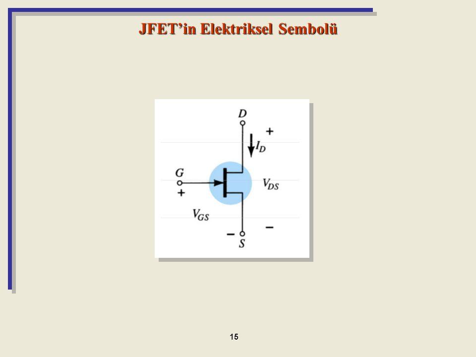 JFET'in Elektriksel Sembolü 15