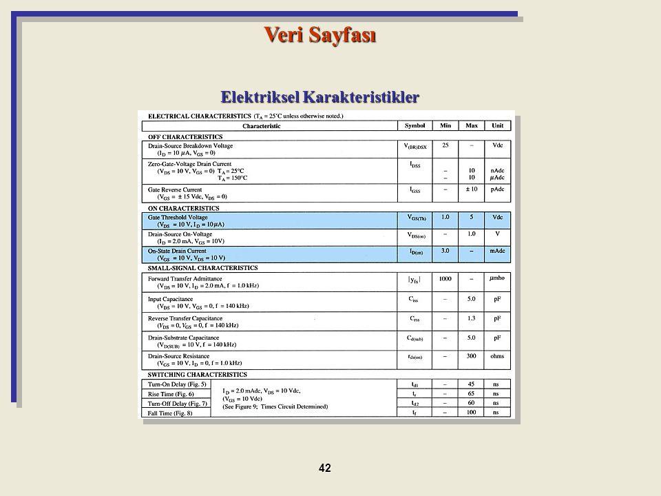 Elektriksel Karakteristikler Veri Sayfası 42