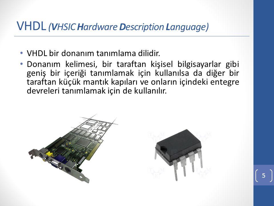 Yüksek Kapasiteli Çıkartma Devresi Tasarımı 16 n bit Tam Çıkarıcı devresi VHDL kod yapısı