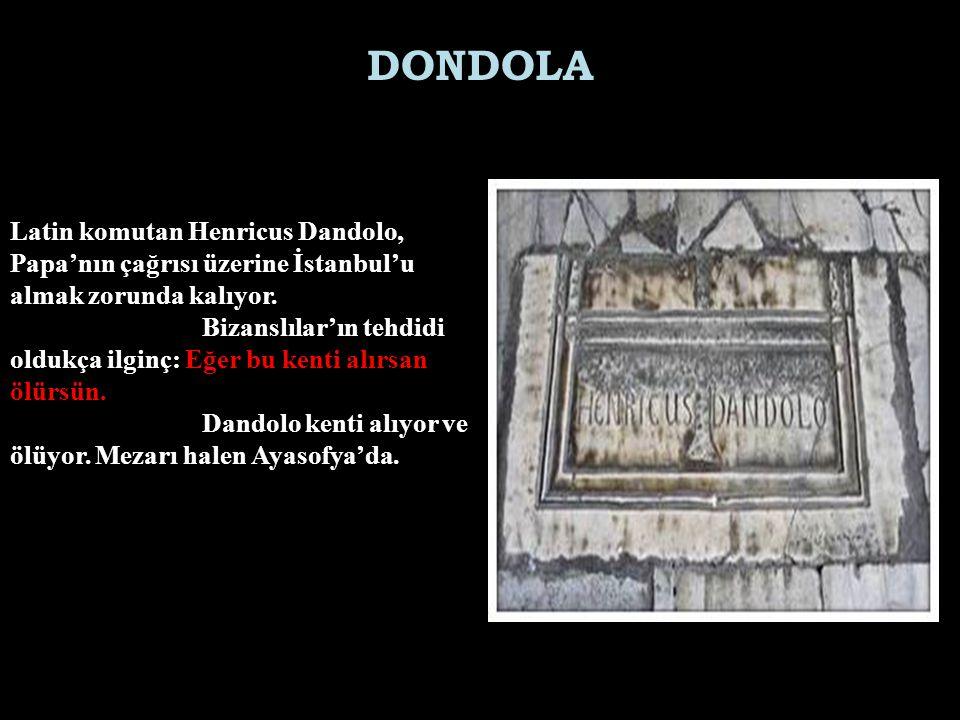 Latin komutan Henricus Dandolo, Papa'nın çağrısı üzerine İstanbul'u almak zorunda kalıyor.