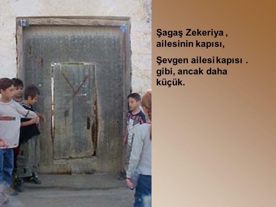 ,Şagaş Zekeriya ailesinin kapısı,. Şevgen ailesi kapısı gibi, ancak daha küçük.