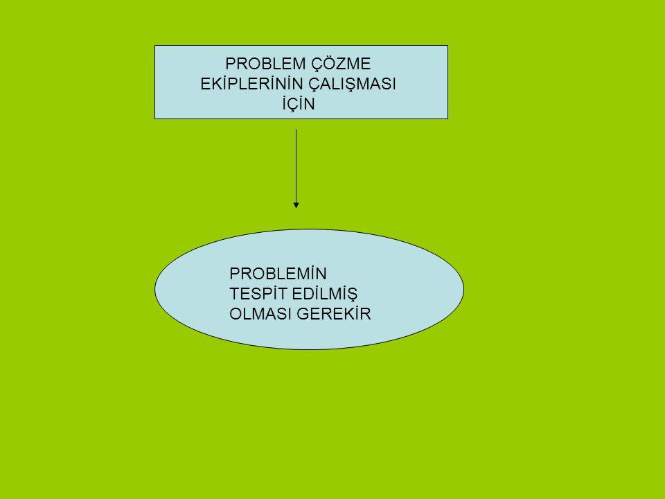 PROBLEM ÇÖZME EKİPLERİNİN EĞİTİMİ TKY FELSEFESİ VE TEMEL İLKELERİ 2 SAAT OGYE VE ÇALIŞMA İLKELERİ 2 SAAT TAKIM ÇALIŞMASI PROBLEM ÇÖZME YÖNTEM VE TEKNİ