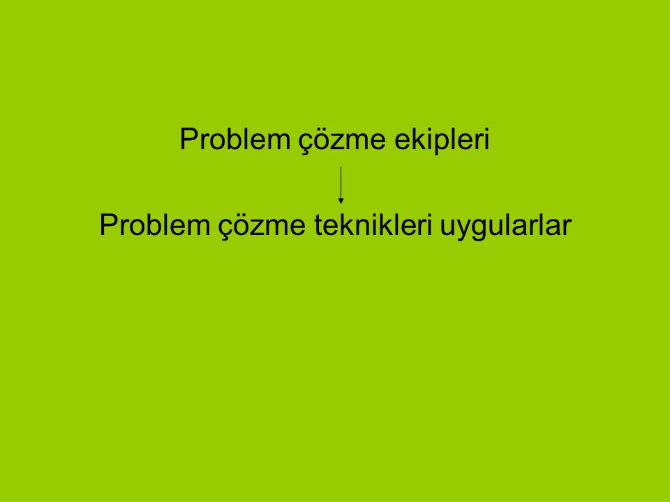 Problem Çözme Ekipleri Kurumların(okul) tespit ettikleri iyileştirmeye açık alanlarından biri birkaçı veya hepsi ile ilgili problemleri çözmek amacıyl