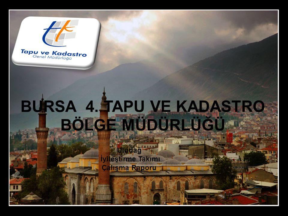 BURSA 4. TAPU VE KADASTRO BÖLGE MÜDÜRLÜĞÜ Uludağ İyileştirme Takımı Çalışma Raporu