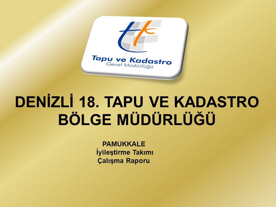 DENİZLİ 18. TAPU VE KADASTRO BÖLGE MÜDÜRLÜĞÜ PAMUKKALE İyileştirme Takımı Çalışma Raporu