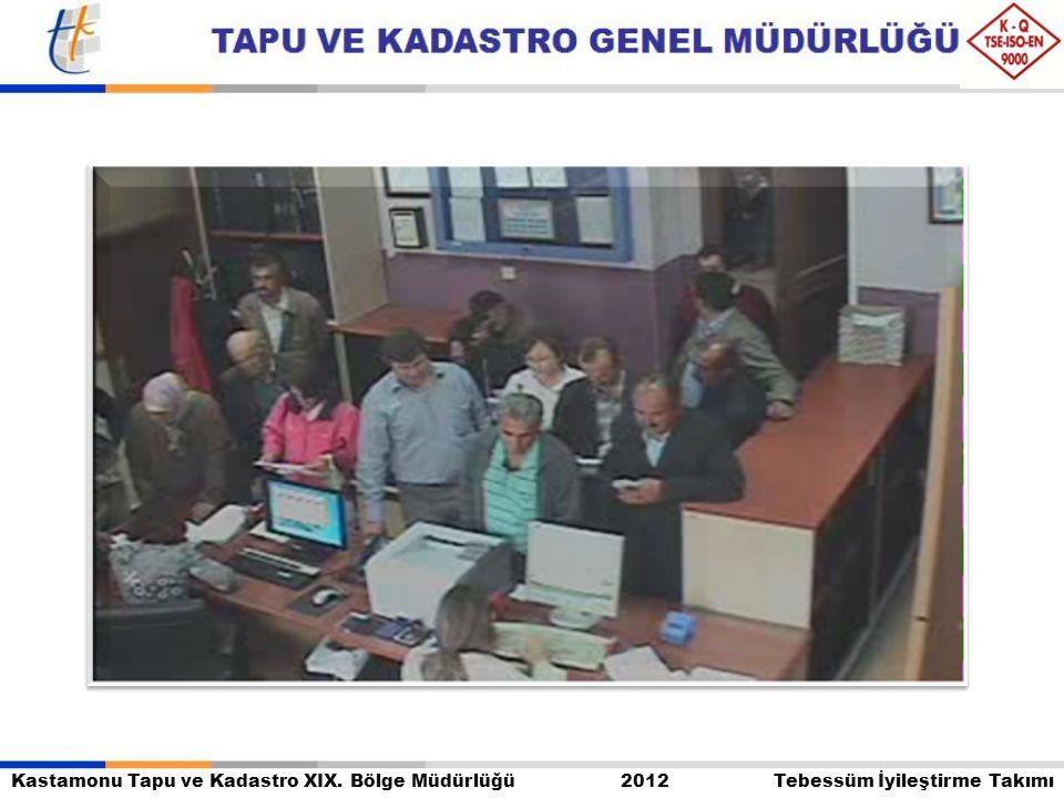 Kastamonu Tapu ve Kadastro XIX. Bölge Müdürlüğü 2012 Tebessüm İyileştirme Takımı