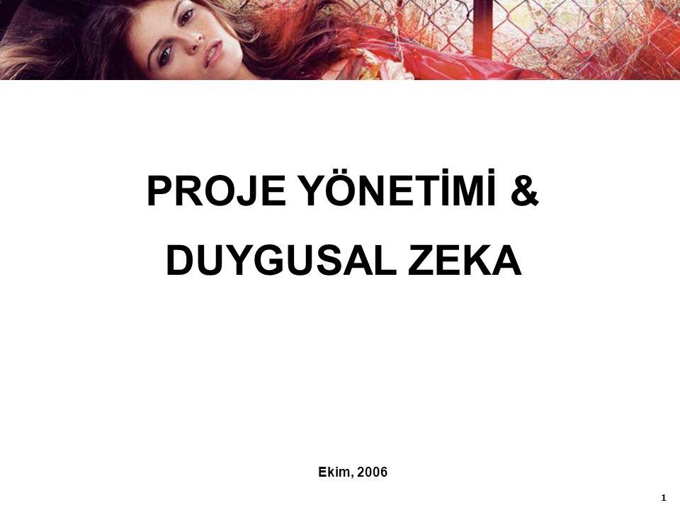 1 PROJE YÖNETİMİ & DUYGUSAL ZEKA Ekim, 2006