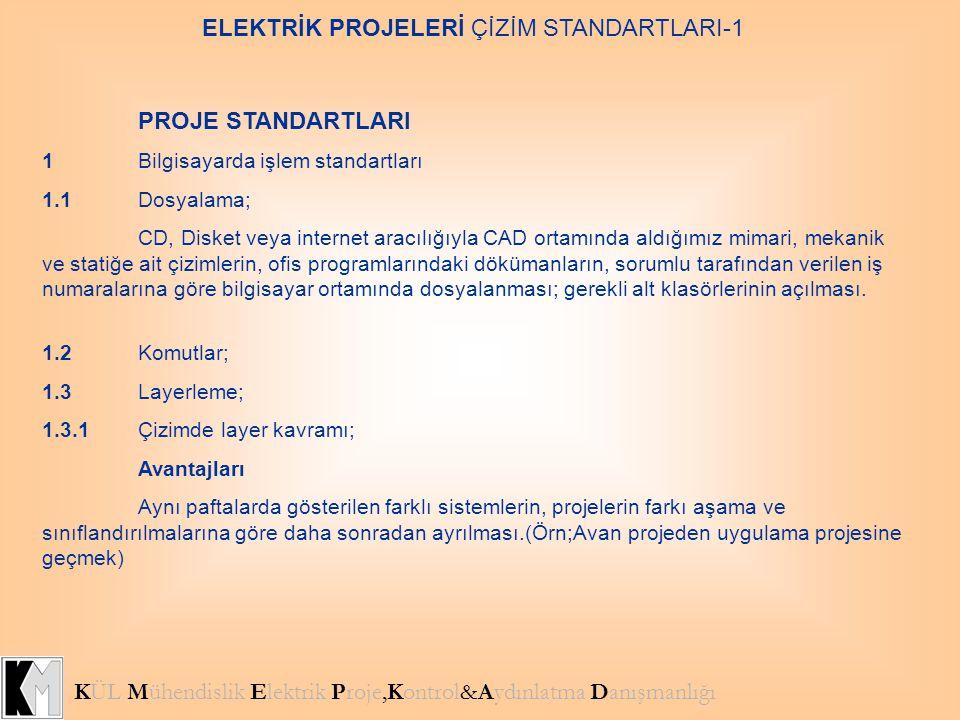 PROJE STANDARTLARI 1Bilgisayarda işlem standartları 1.1Dosyalama; CD, Disket veya internet aracılığıyla CAD ortamında aldığımız mimari, mekanik ve sta