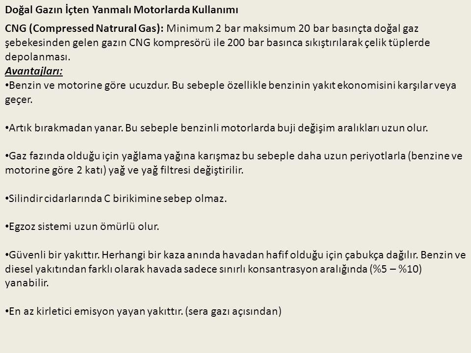 Dezavantajları: Dolum istasyonları yaygın değildir ve kurulması pahalıdır.