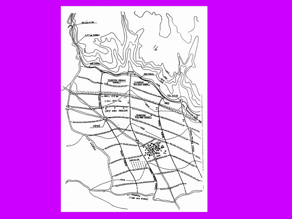 Ana Sulama Kanalı: Sulama suyunu su alma yapısından alarak yedek sulama kanallarına taşıyan kanallara ana sulama kanalı denir.