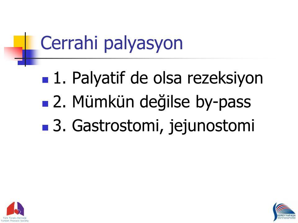 Cerrahi palyasyon 1.Palyatif de olsa rezeksiyon 2.