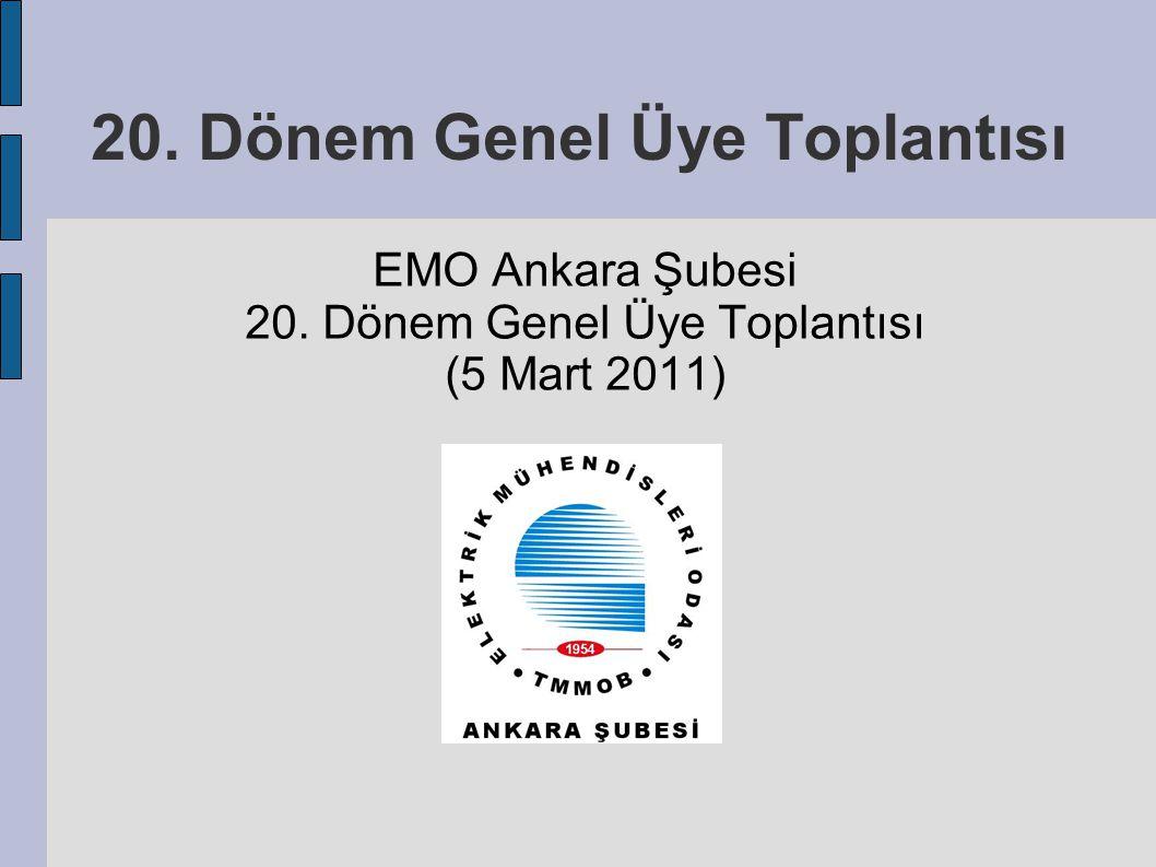 20. Dönem Genel Üye Toplantısı EMO Ankara Şubesi 20. Dönem Genel Üye Toplantısı (5 Mart 2011)