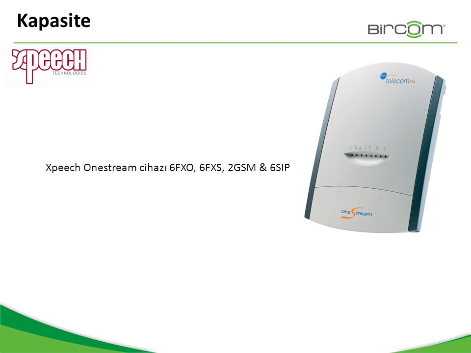 Kapasite Xpeech Onestream cihazı 6FXO, 6FXS, 2GSM & 6SIP