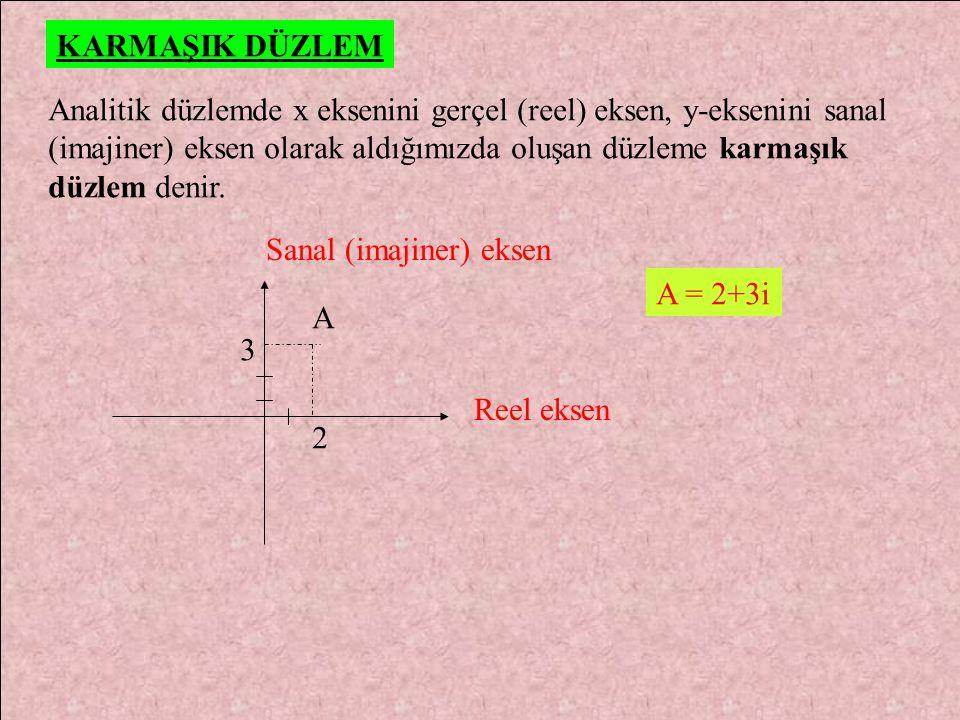 5) Çözüm kümesi {2-5i, 2+5i} olan ikinci derece denklemi bulunuz? BÖLME İki karmaşık sayının bölümünde pay ile payda paydanın eşleniği ile çarpılır. z
