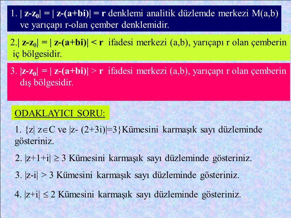 z 1 = 2-4i ve z2 z2 = -4+4i sayıları arasındaki uzaklık; z1 z1 = 2-4i sayısının görüntüsüM 1 (2,-4) z2 z2 = -4+4i sayısının görüntüsüM 2 (-4,4) | z 1